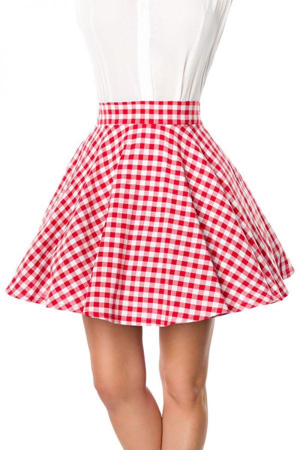 online retailer 87689 8efad Belsira kurzer Swing-Rock rot/weiß (50060) in Kleider ...